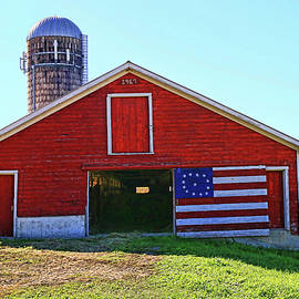 Allen Beatty - Red, White, and Blue Barn