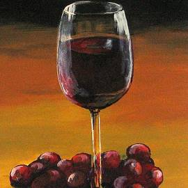 Red Wine And Red Grapes by Torrie Smiley