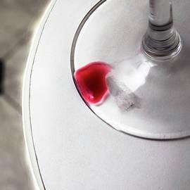 Yuri Lev - Red Wine Drop Abstract