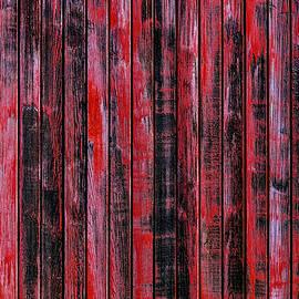Red Wood Box Car Detail - Garry Gay