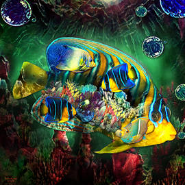 Reef Fish Fantasy Art by Artful Oasis