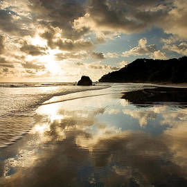 Reflected Costa Rica Sunset by Matt Tilghman
