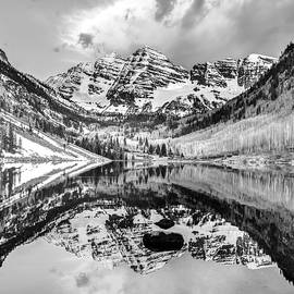 Reflected Perfection - Maroon Bells - Aspen Colorado by Gregory Ballos
