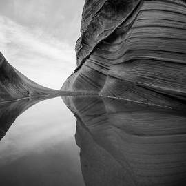 Reflecting Pool At The Wave by James Udall