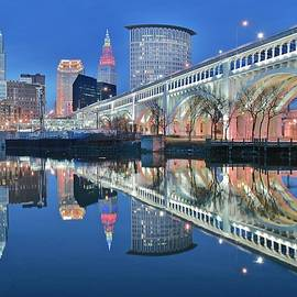 Reflecting Sharply in the Cuyahoga by Frozen in Time Fine Art Photography