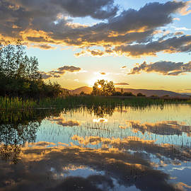Reflection of a Sunset Sky by Amy Sorvillo