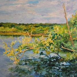 Barbara Moak - Reflection on the Waterway at Robinson Preserve
