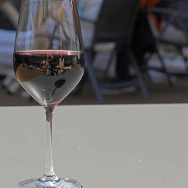 Reflections In Wine Glass by Tony Murtagh