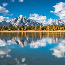Luis A Ramirez - Reflections of The Grand Tetons at Colter Bay