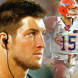 Reflections Tim Tebow by John Farr