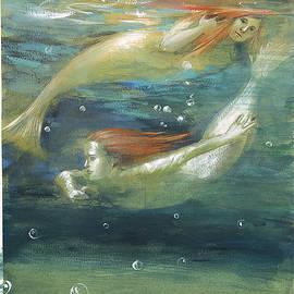 REFLEXION-Pisces zodiac sign.Mermaids subaquatic dance by Vali Irina Ciobanu