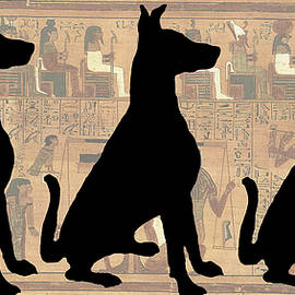 Regal Sit, Ancient Egyptian Background by Karla Beatty