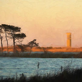 Rehoboth Beach Watchtower at Sunset by Francis Sullivan