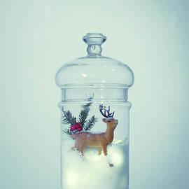 Reindeer Snowglobe - Amanda Elwell