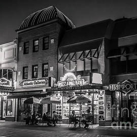 Claudia M Photography - Relaxing night on the boardwalk - monochrome