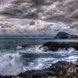 Reid Callaway - Relentless Oahu West Coast Stormy Sunset Hawaii Collection Art