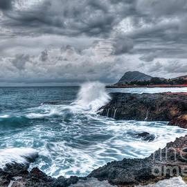 Reid Callaway - Relentless Splash Oahu Stormy Sunset Hawaii Collection Art
