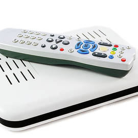 Iordanis Pallikaras - Remote and Receiver for Internet TV on white side view