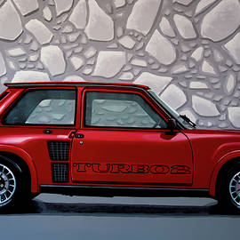Renault 5 Turbo 2 1980 Painting by Paul Meijering