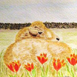 Angela Davies - Resting In The Tulips