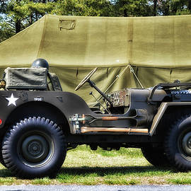 Restored Willys Jeep and Tent at Fort Miles by Bill Swartwout Photography