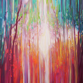 Gill Bustamante - Revelation - a path through an autumn wood