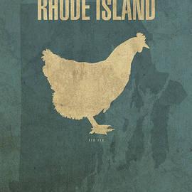 Design Turnpike - Rhode Island State Facts Minimalist Movie Poster Art