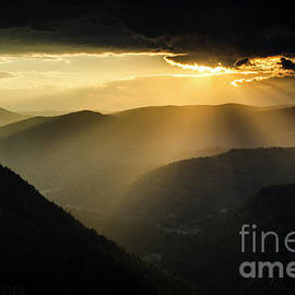 Rhodope Mountains Sunset3 by Steve Somerville