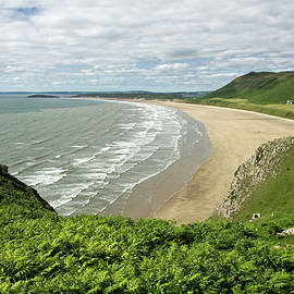 Rhossili In The Gower by Pete Hemington