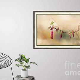 Ribes Sanguinium wall art mock up by Liz Alderdice