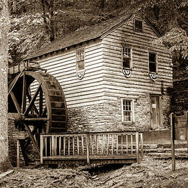 Gregory Ballos - Rice Grist Mill - Norris Dam State Park - Tennessee - Sepia