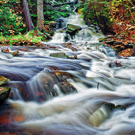 Ricketts Glen Waterfall by Marcia Colelli