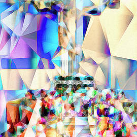 Wingsdomain Art and Photography - Rio Christ The Redeemer in Abstract Cubism 20170327