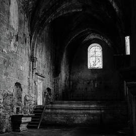 Rioseco Abandoned Abbey Nave BW by RicardMN Photography