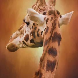 Rising Above - Giraffe Art by Jordan Blackstone
