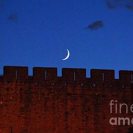 Rising Moon Over La Cite, Carcassonne, France by Poet's Eye