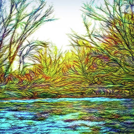 Joel Bruce Wallach - River Journey Sunrise