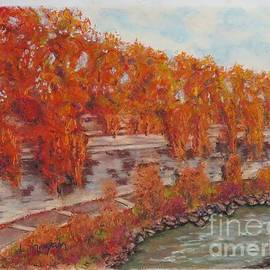 River Tiber in Fall by Laurie Morgan