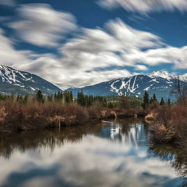 Pierre Leclerc Photography - River View of Whistler and Blackcomb