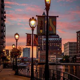 Kristine Hinrichs - Riverwalk at Sunset