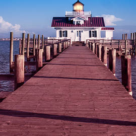 Roanoke Marshes Lighthouse by Penny Lisowski