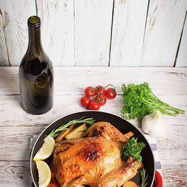 Roasted chicken by Vadim Goodwill