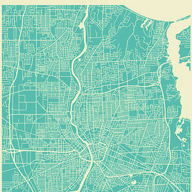 ROCHESTER STREET MAP - Jazzberry Blue