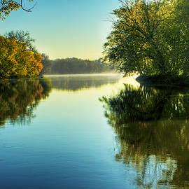 Roger Passman - Rock River Autumn Morning