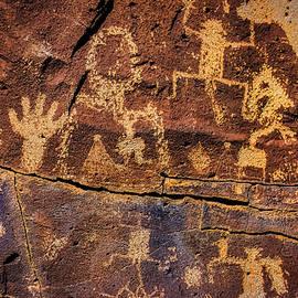 Rock Wall Of Petroglyphs - Garry Gay