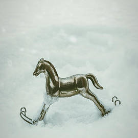 Amanda Elwell - Rocking Horse In Snow