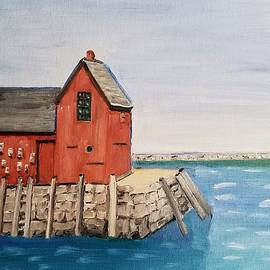 Rockport Motif In Winter by Mary Capriole
