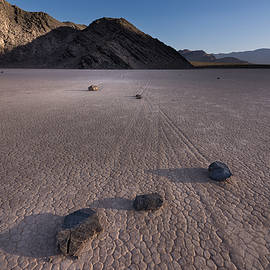 Rocks on the Racetrack Death Valley by Steve Gadomski