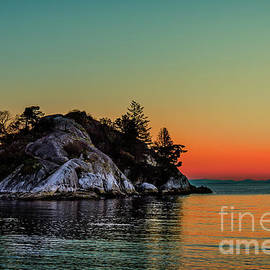 Island of Whytecliff Park at sunset in West Vancouver BC, Canada by Viktor Birkus