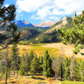 Rocky Mountain High Painterly by Lorraine Baum